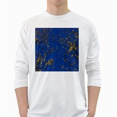 Poplar Foliage Yellow Sky Blue White Long Sleeve T Shirts