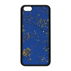 Poplar Foliage Yellow Sky Blue Apple Iphone 5c Seamless Case (black) by Amaryn4rt