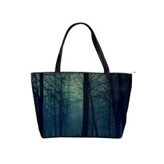 Dark Night Forest Shoulder Handbags by Brittlevirginclothing