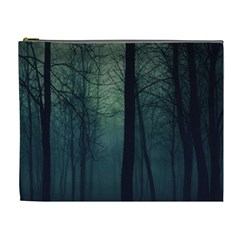 Dark Night Forest Cosmetic Bag (xl) by Brittlevirginclothing