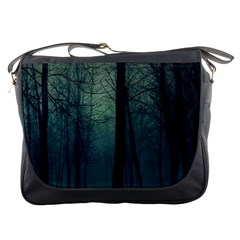Dark Night Forest Messenger Bags by Brittlevirginclothing