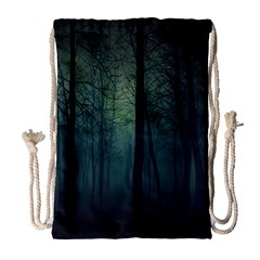 Dark Night Forest Drawstring Bag (large) by Brittlevirginclothing