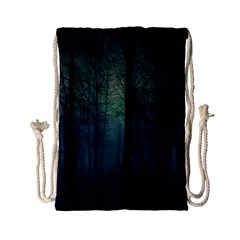 Dark Night Forest Drawstring Bag (small) by Brittlevirginclothing