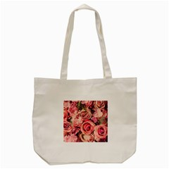 Beautiful Pink Roses Tote Bag (cream) by Brittlevirginclothing