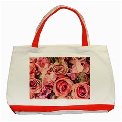 Beautiful Pink Roses Classic Tote Bag (red) by Brittlevirginclothing