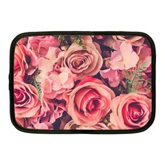 Beautiful Pink Roses Netbook Case (medium)  by Brittlevirginclothing