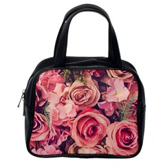 Beautiful Pink Roses Classic Handbags (one Side) by Brittlevirginclothing