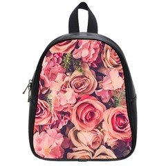 Beautiful Pink Roses School Bags (small)  by Brittlevirginclothing