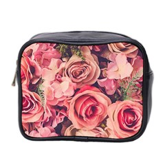 Beautiful Pink Roses Mini Toiletries Bag 2-side by Brittlevirginclothing