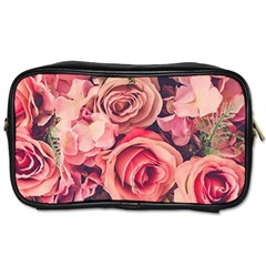Beautiful Pink Roses Toiletries Bags 2 Side by Brittlevirginclothing