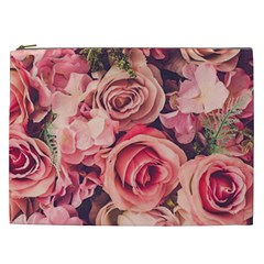 Beautiful Pink Roses Cosmetic Bag (xxl)  by Brittlevirginclothing