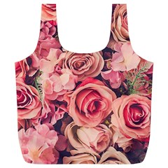 Beautiful Pink Roses Full Print Recycle Bags (l)  by Brittlevirginclothing