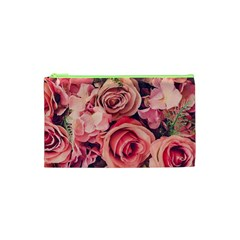 Beautiful Pink Roses Cosmetic Bag (xs) by Brittlevirginclothing