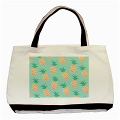 Cute Pineapple  Basic Tote Bag (two Sides) by Brittlevirginclothing