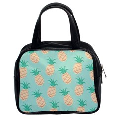 Cute Pineapple  Classic Handbags (2 Sides) by Brittlevirginclothing