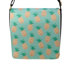 Cute Pineapple  Flap Messenger Bag (l)  by Brittlevirginclothing