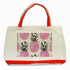 Lovely Pink Pineapple  Classic Tote Bag (red) by Brittlevirginclothing