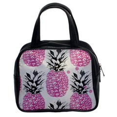 Lovely Pink Pineapple  Classic Handbags (2 Sides) by Brittlevirginclothing