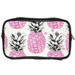 Lovely Pink Pineapple  Toiletries Bags by Brittlevirginclothing