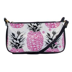 Lovely Pink Pineapple  Shoulder Clutch Bags by Brittlevirginclothing