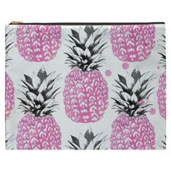 Lovely Pink Pineapple  Cosmetic Bag (xxxl)  by Brittlevirginclothing