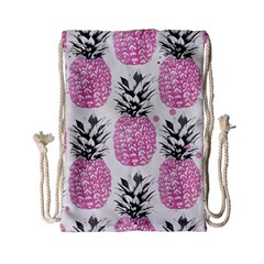 Lovely Pink Pineapple  Drawstring Bag (small) by Brittlevirginclothing