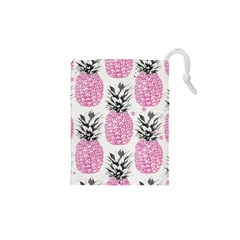 Lovely Pink Pineapple  Drawstring Pouches (xs)  by Brittlevirginclothing