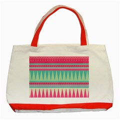 Gorgeous Colorful Pink Bohemian  Classic Tote Bag (red) by Brittlevirginclothing