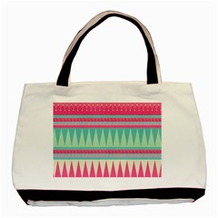 Gorgeous Colorful Pink Bohemian  Basic Tote Bag (two Sides) by Brittlevirginclothing
