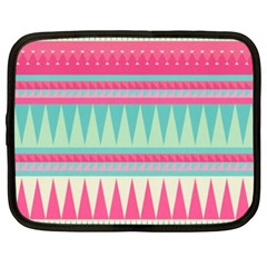 Gorgeous Colorful Pink Bohemian  Netbook Case (xxl)  by Brittlevirginclothing