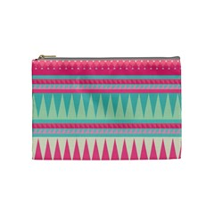 Gorgeous Colorful Pink Bohemian  Cosmetic Bag (medium)  by Brittlevirginclothing