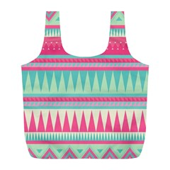 Gorgeous Colorful Pink Bohemian  Full Print Recycle Bags (l)  by Brittlevirginclothing