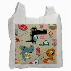 Lovely Cartoon Animals Recycle Bag (two Side)  by Brittlevirginclothing