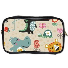 Lovely Cartoon Animals Toiletries Bags 2 Side by Brittlevirginclothing