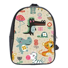 Lovely Cartoon Animals School Bags (xl)  by Brittlevirginclothing