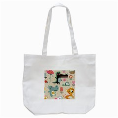 Lovely Cartoon Animals Tote Bag (white) by Brittlevirginclothing