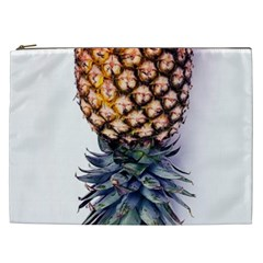 La Pina Pineapple Cosmetic Bag (xxl)  by Brittlevirginclothing