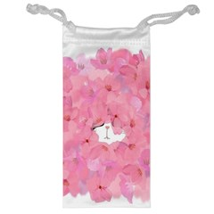 Gorgeous Pink Flowers  Jewelry Bag by Brittlevirginclothing