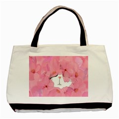 Gorgeous Pink Flowers  Basic Tote Bag by Brittlevirginclothing