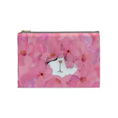 Gorgeous Pink Flowers  Cosmetic Bag (medium)  by Brittlevirginclothing
