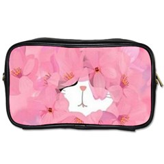 Gorgeous Pink Flowers  Toiletries Bags 2 Side by Brittlevirginclothing