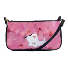 Gorgeous Pink Flowers  Shoulder Clutch Bags by Brittlevirginclothing