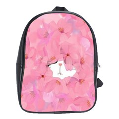 Gorgeous Pink Flowers  School Bags (xl)  by Brittlevirginclothing