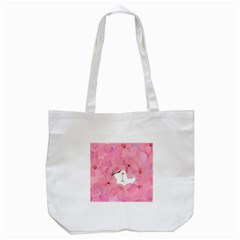 Gorgeous Pink Flowers  Tote Bag (white) by Brittlevirginclothing