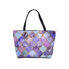 Blue Toned Moroccan Mosaic  Shoulder Handbags by Brittlevirginclothing