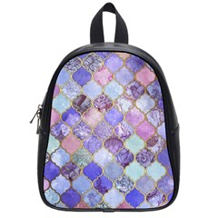 Blue Toned Moroccan Mosaic  School Bags (small)  by Brittlevirginclothing