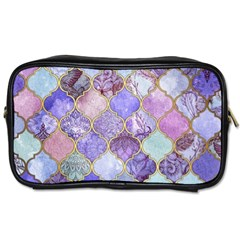 Blue Toned Moroccan Mosaic  Toiletries Bags 2 Side by Brittlevirginclothing
