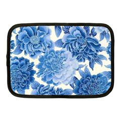 Blue Toned Flowers Netbook Case (medium)  by Brittlevirginclothing