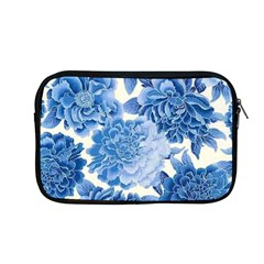 Blue Toned Flowers Apple Macbook Pro 13  Zipper Case by Brittlevirginclothing