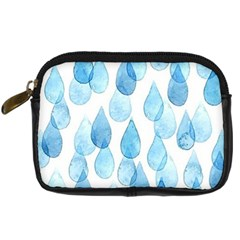 Cute Blue Rain Drops Digital Camera Cases by Brittlevirginclothing